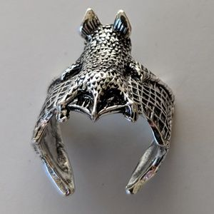 Jewelry - Flying Bat  Gothic Metal Adjustable Ring NWOT